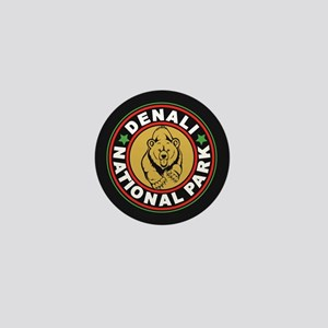 Denali Black Circle Mini Button