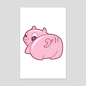 Pig Mini Poster Print