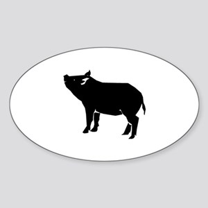 Pig Sticker (Oval)
