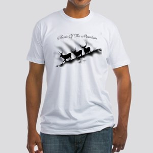 Ghosts of the Mountian Fitted T-Shirt