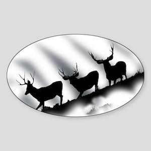 mule deer Sticker (Oval)
