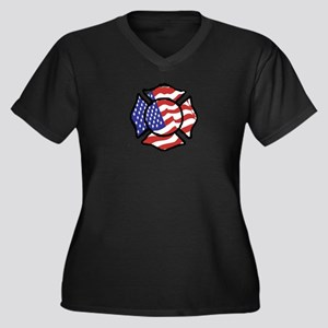 U.S. Firefighter Plus Size T-Shirt