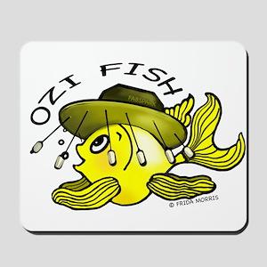 Australian Fish funny OZI fish Mousepad