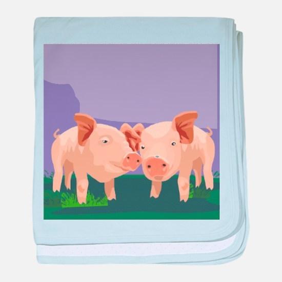 Pig baby blanket