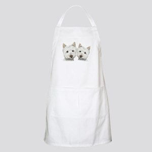 Two Cute West Highland White Dogs Apron