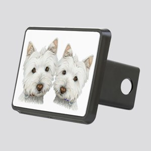 Two Cute West Highland White Dogs Rectangular Hitc