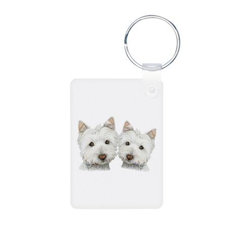 Two Cute West Highland White Dogs Aluminum Photo K