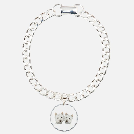 Two Cute West Highland White Dogs Bracelet