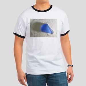 Blue Sea Glass Ringer T