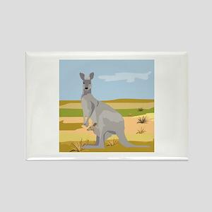 Kangaroo Rectangle Magnet
