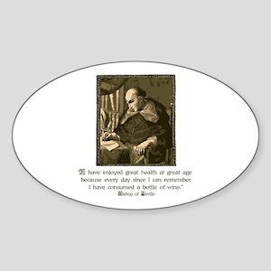 Bishop of Seville Oval Sticker