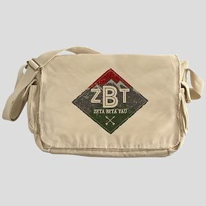 Zeta Beta Tau Mountains Diamonds Messenger Bag