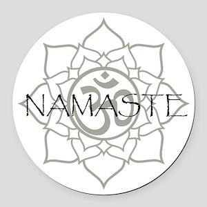 Namaste Om Round Car Magnet
