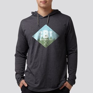 Zeta Beta Tau Mountains Diamonds Blue Mens Hooded