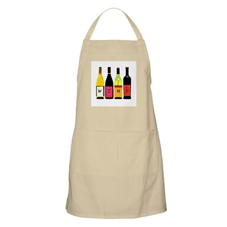 WINE Bottles BBQ Apron