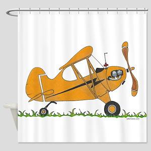 Cub Airplane Shower Curtain