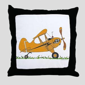 Cub Airplane Throw Pillow