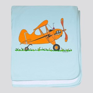 Cub Airplane baby blanket