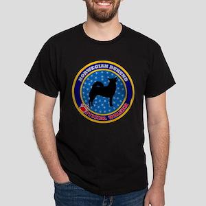 Norwegian Buhund Black T-Shirt