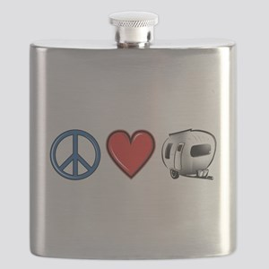 Peace Love & Camping Flask