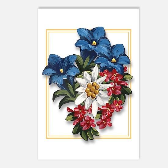 Alpine flowers Postcards (Package of 8)