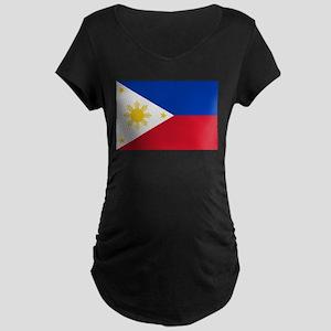 Philippine flag Maternity Dark T-Shirt