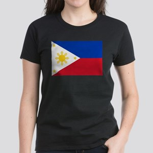 Philippine flag Women's Dark T-Shirt