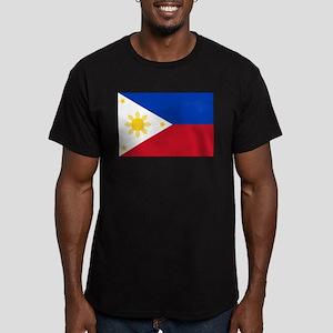 Philippine flag Men's Fitted T-Shirt (dark)