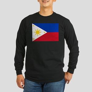 Philippine flag Long Sleeve Dark T-Shirt