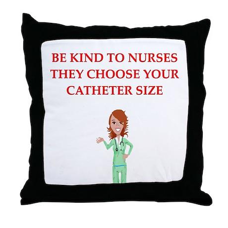nurse joke Throw Pillow
