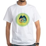 White T-Shirt Shiva Shakti Brain Large
