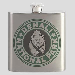 Denali Green Circle Flask