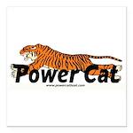 "Power Cat Square Car Magnet 3"" x 3"""
