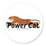 Power Cat Round Car Magnet