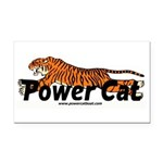 Power Cat Rectangle Car Magnet