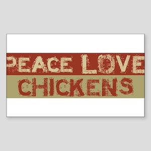 peace love chickens Sticker