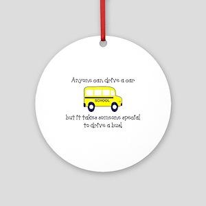 Bus Driver Ornament (Round)