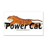 Power Cat Car Magnet 20 X 12