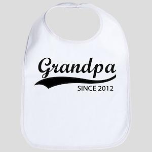 Grandpa since 2012 Bib