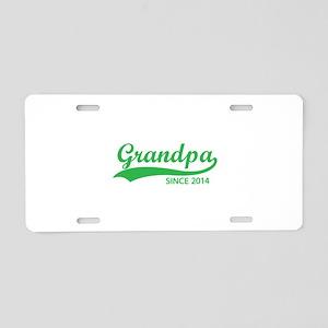 Grandpa since 2014 Aluminum License Plate