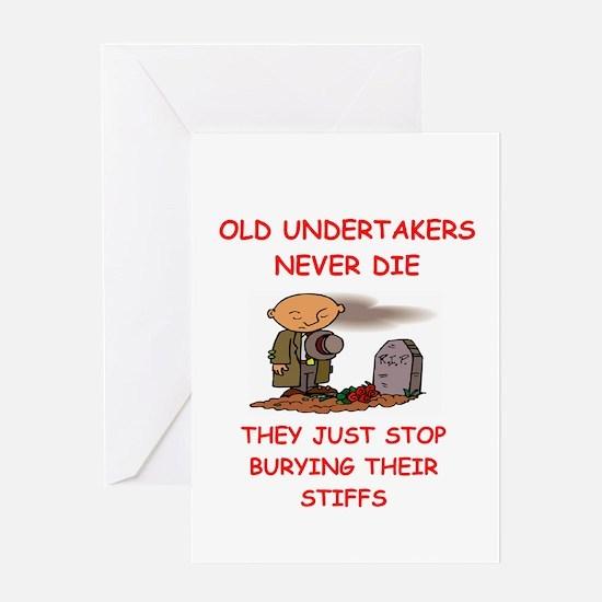 undertaker joke Greeting Card