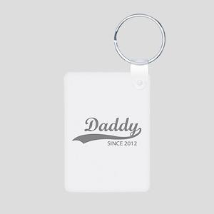 Daddy since 2012 Aluminum Photo Keychain