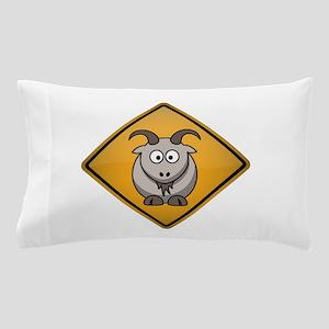 Goat Warning Sign Pillow Case