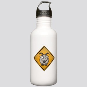 Goat Warning Sign Stainless Water Bottle 1.0L