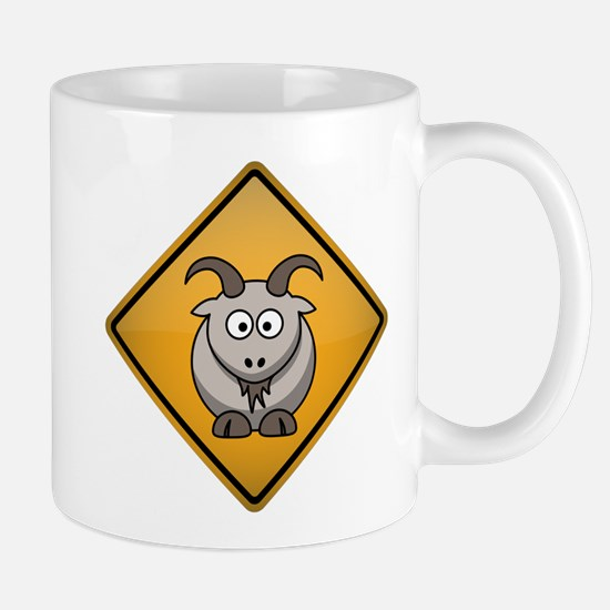 Goat Warning Sign Mug