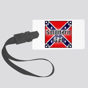southern girl Large Luggage Tag