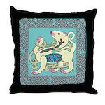 Celtic Ferret Throw Pillow