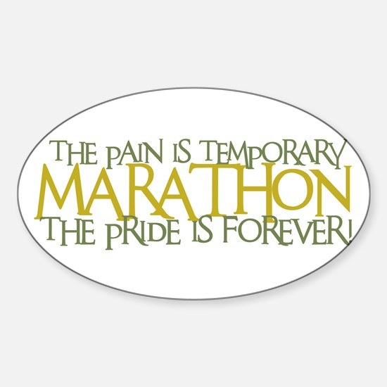 Marathon- The Pride is Forever Oval Decal