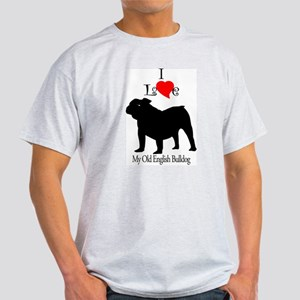 Old English Bulldog Ash Grey T-Shirt