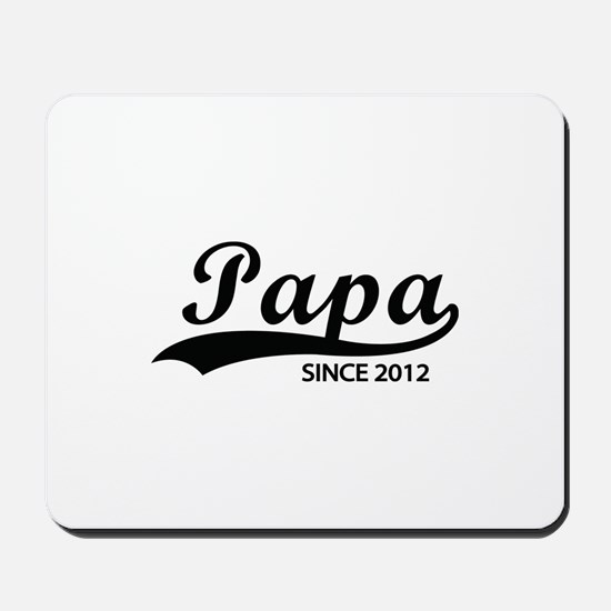 Papa since 2012 Mousepad